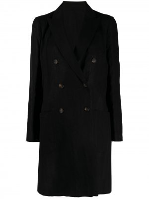 Двубортное пальто Brunello Cucinelli. Цвет: черный