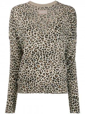 Пуловер Brume с леопардовым принтом Zadig&Voltaire. Цвет: коричневый