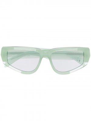 Солнцезащитные очки Cathari I в оправе кошачий глаз Retrosuperfuture. Цвет: зеленый