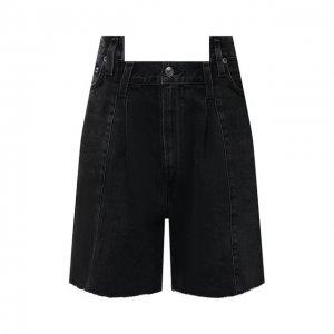 Джинсовые шорты Agolde. Цвет: серый