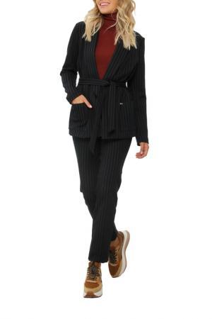 Костюм: пиджак, брюки, пояс AVEMOD. Цвет: черный