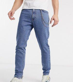 Суженные джинсы со съемной цепочкой COLLUSION x003-Синий