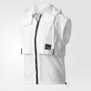 Жилет и рюкзак EQT Two-in-One Originals adidas. Цвет: белый