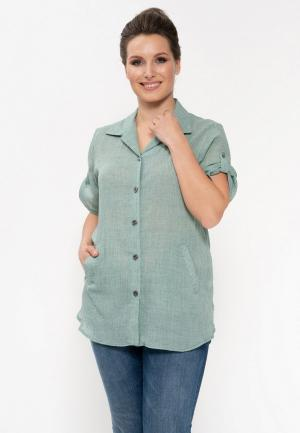 Рубашка Cleo. Цвет: зеленый