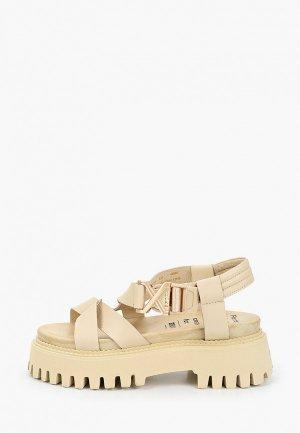 Босоножки Bronx Groovy Sandal. Цвет: бежевый