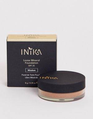 Минеральная рассыпчатая пудра-основа под макияж INIKA-Светло-коричневый Inika