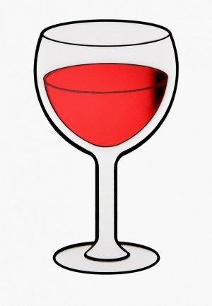 Брошь Monolama Вино. Цвет: красный