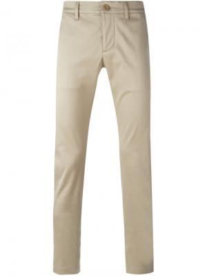 Классические брюки-чинос Saint Laurent. Цвет: телесный
