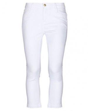 Джинсовые брюки-капри ESSENTIEL ANTWERP. Цвет: белый