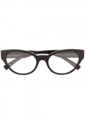 Очки в оправе кошачий глаз с логотипом Versace Eyewear. Цвет: черный