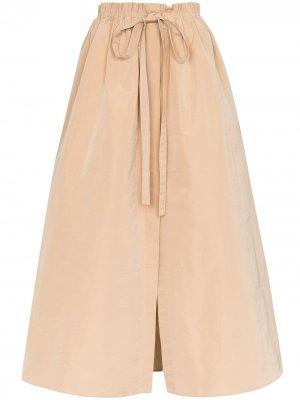 Юбка макси со сборками Givenchy. Цвет: коричневый