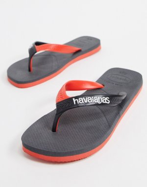 Havianas casual flip flops in black and red-Черный Havaianas