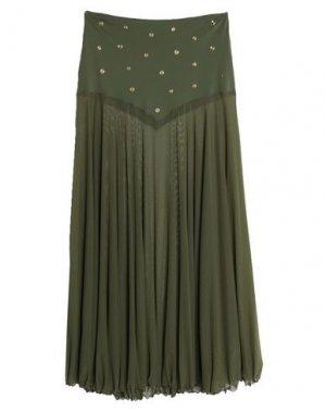 Длинная юбка PIN UP STARS. Цвет: зеленый-милитари
