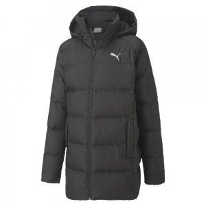 Детская куртка Long Down Jacket G PUMA. Цвет: черный