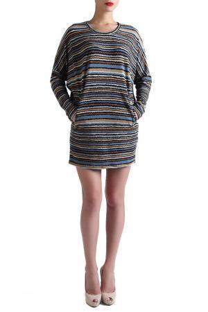 Туника-платье EVA Milano. Цвет: серый