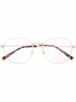 Очки в квадратной оправе Givenchy Eyewear. Цвет: золотистый
