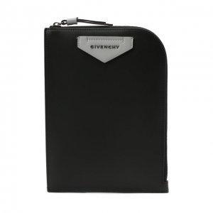 Кожаная сумка Antigona Givenchy. Цвет: чёрный