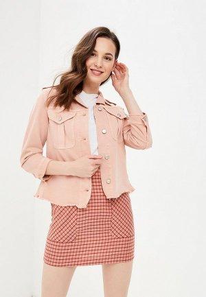 Куртка джинсовая Sisley. Цвет: розовый