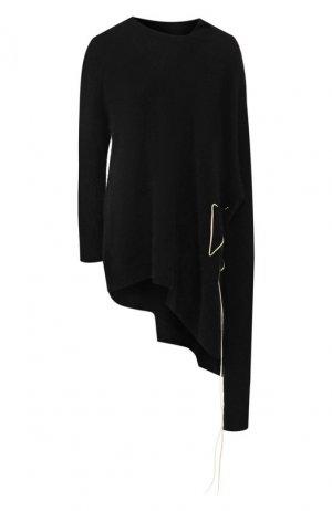 Шерстяной пуловер Yohji Yamamoto. Цвет: разноцветный