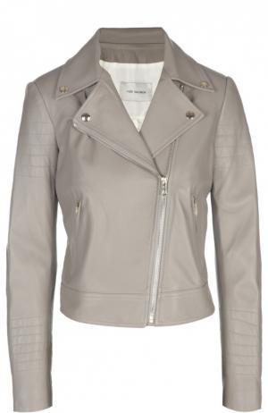 Кожаная куртка Yves Salomon. Цвет: светло-серый