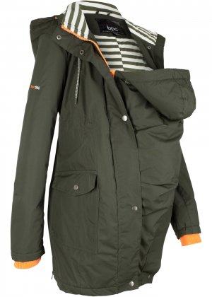 Куртка для беременных и кормящих мам bonprix. Цвет: зеленый