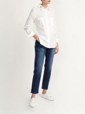 Укороченные джинсы 6 P.M.. Цвет: siniy