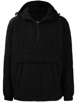 Куртка с капюшоном BOSS. Цвет: черный