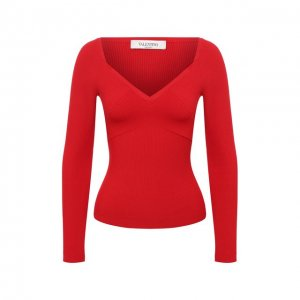 Пуловер из вискозы Valentino. Цвет: красный