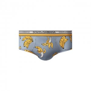 Хлопковые хипсы Dolce & Gabbana. Цвет: синий