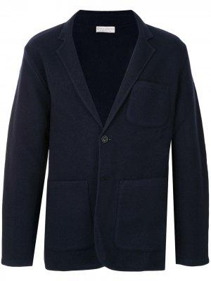 Однобортный пиджак Gieves & Hawkes. Цвет: синий