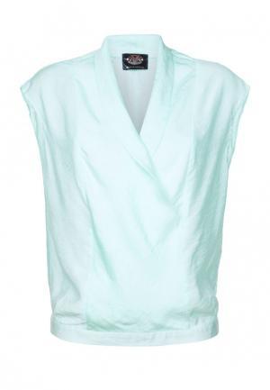Блуза Mayamoda. Цвет: бирюзовый
