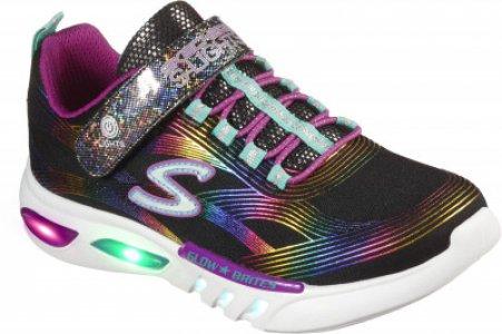Кроссовки для девочек Glow-Brites, размер 36 Skechers. Цвет: черный