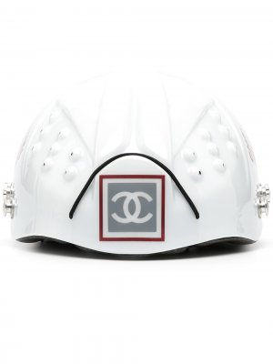Велосипедный шлем с логотипом Chanel Pre-Owned. Цвет: белый