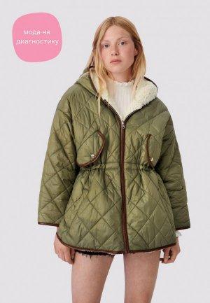 Куртка утепленная Maje. Цвет: хаки