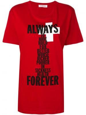 Футболка с принтом Always Forever A.F.Vandevorst. Цвет: красный