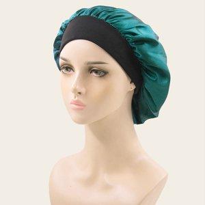Шапочка для волос минималистичный SHEIN. Цвет: бирюзовый