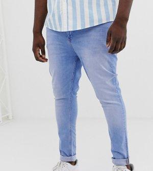Светлые супероблегающие джинсы Plus-Синий ASOS DESIGN