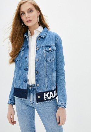 Куртка джинсовая Karl Lagerfeld Denim. Цвет: голубой