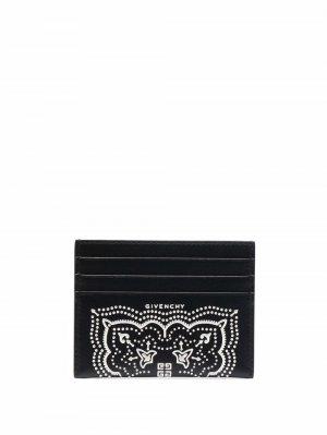 Картхолдер с принтом Givenchy. Цвет: черный