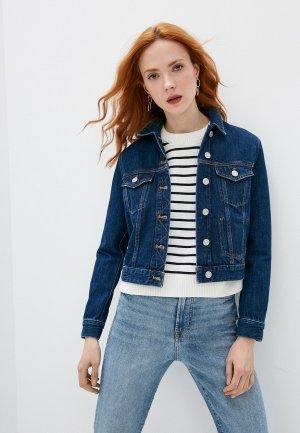 Куртка джинсовая French Connection. Цвет: синий