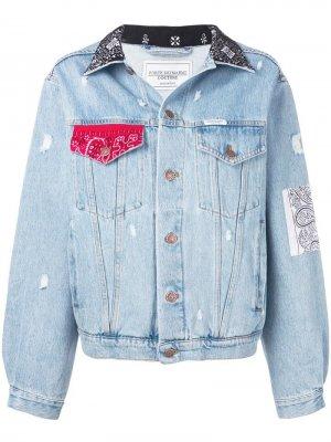 Джинсовая куртка с контрастными вставками Forte Dei Marmi Couture. Цвет: синий