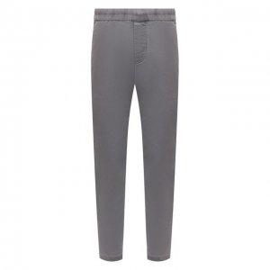 Хлопковые брюки James Perse. Цвет: серый