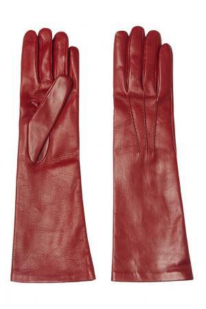 Кожаные перчатки Valentino. Цвет: красный