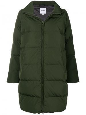 Zipped oversized padded coat Aspesi