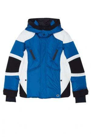 Комбинированная куртка на молнии Gucci Kids. Цвет: multicolor