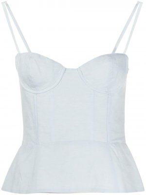Bustier style top Brock Collection. Цвет: синий