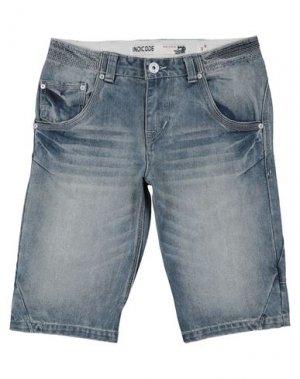 Джинсовые шорты INDICODE. Цвет: синий
