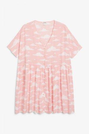Платье в стиле бэби-долл Monki. Цвет: розовый
