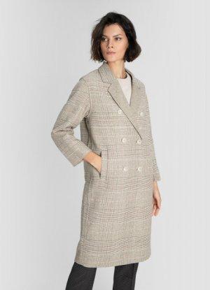 Пальто из ткани с добавлением шерсти ручной обработки O`Stin. Цвет: кремовый