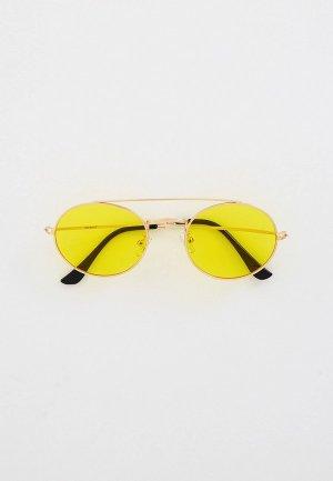 Очки солнцезащитные Vitacci. Цвет: золотой